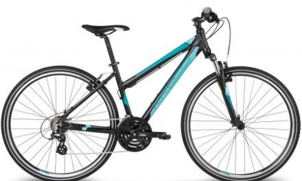 Kross Evado 1.0 – Citybike – Dame – 21 gear – Matsort/turkis