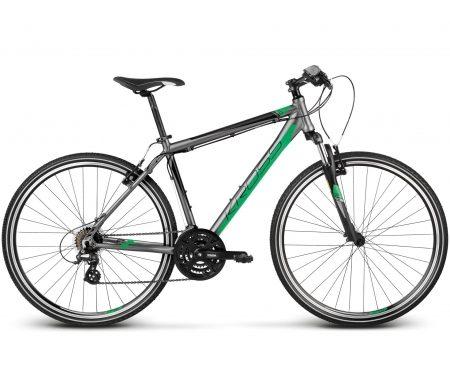Kross Evado 1.0 – Citybike – Herre – 21 gear – Grå/grøn
