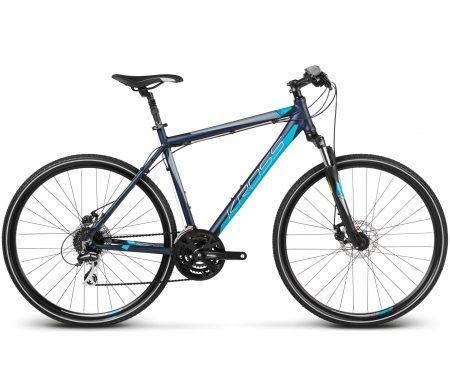 "Kross Evado 3.0 – Citybike – Herre – 24 gear – Str. 19"" – Matblå"