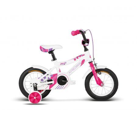 "Kross Maya – Børnecykel – 12"" – Hvid/pink"
