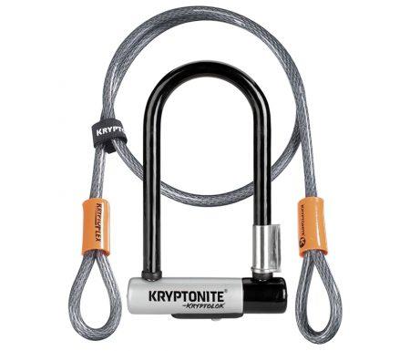 Kryptonite bøjlelås med wire – Kryptolok Mini 7 – U-Lock med Flex