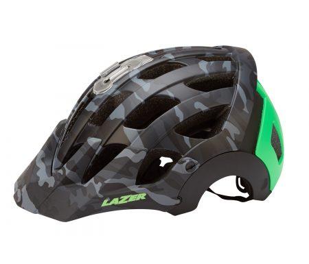 Lazer – Cykelhjelm – Revolution – Matsort/camouflage grøn – 55-59 cm