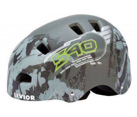 Levior cykel- og skaterhjelm 5Forty – Mat grå
