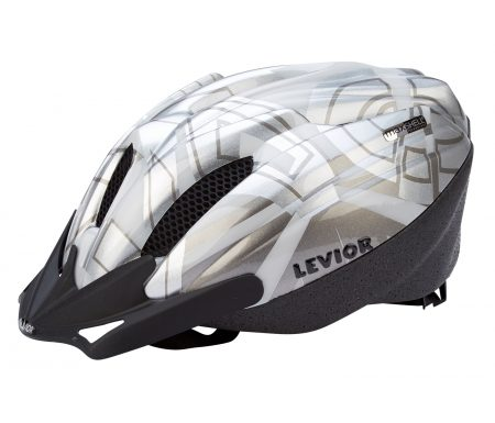 Levior cykelhjelm Flitzi – Sølv-hvid