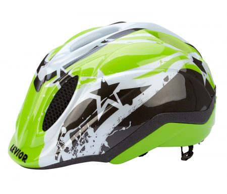 Levior cykelhjelm Primo – Grøn Stars