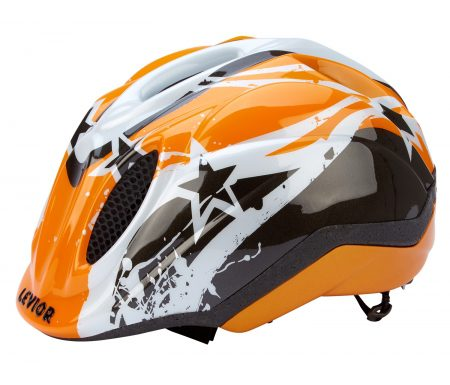 Levior cykelhjelm Primo – Orange Stars