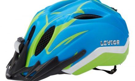 Levior cykelhjelm Primo Refleks Str. 52-58 cm – Blå-Grøn-Matt