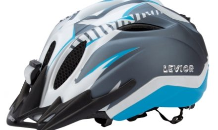 Levior cykelhjelm Primo Refleks Str. 52-58 cm – Hvid-Blå-Matt