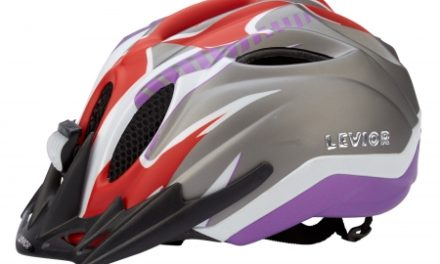 Levior cykelhjelm Primo Refleks Str. 52-58 cm – Rød-Violet-Matt