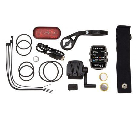 Lezyne Micro Color GPS HRSC Loaded – Cykelcomputer – Bundle med pulsbælte og sensorer