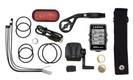 Lezyne Super GPS HRSC Loaded – Cykelcomputer – Bundle med pulsbælte og sensorer