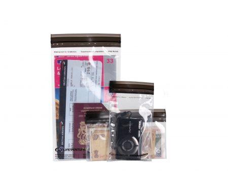 LifeVenture DriStore LocTop Bags – Vandtæt opbevaring til værdigenstande – 3 stk