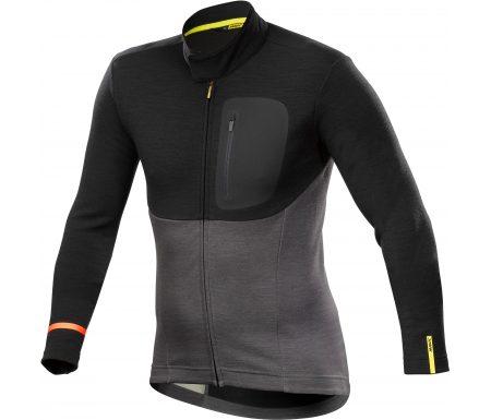 Mavic Allroad Thermo Jersey – Langærmet cykeltrøje – Sort/grå