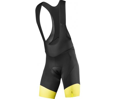 Mavic Cosmic Pro – Bib shorts med pude – Sort/gul