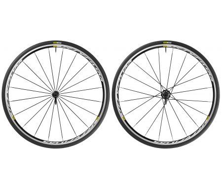 Mavic Ksyrium – Hjulsæt inkl. dæk – Sort – Sram/Shimano – 700x25c