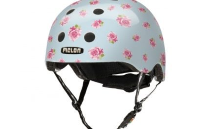 Melon Flying Roses – Cykelhjelm – Lyseblå med roser