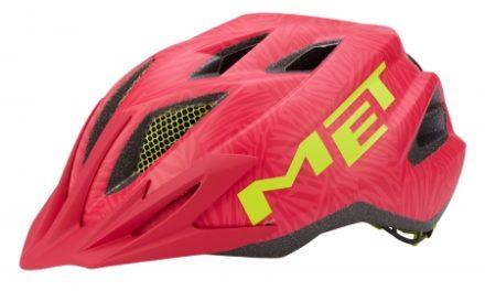 Met Crackerjack – Junior cykelhjelm – Pink/grøn – Str. 52-57 cm
