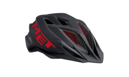 Met Crackerjack – Junior cykelhjelm – Sort/rød – Str. 52-57 cm