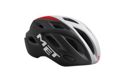 MET Idolo – Cykelhjelm – Sort/Hvid/Rød