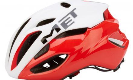 MET Rivale cykelhjelm – Hvid/rød