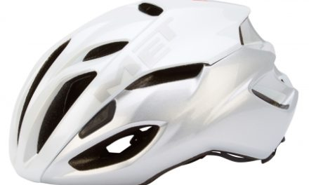 MET Rivale cykelhjelm – Hvid/sølv