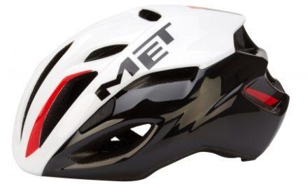MET Rivale – Cykelhjelm – Hvid/Sort/Rød