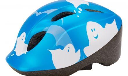 Met Super Buddy – Cykelhjelm – Str. 52-57 cm – Blå med spøgelsemotiv