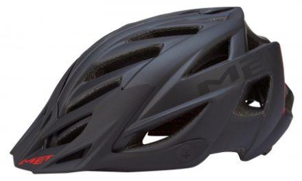 Met Terra – Cykelhjelm – Matsort/rød – Str. 54-61 cm