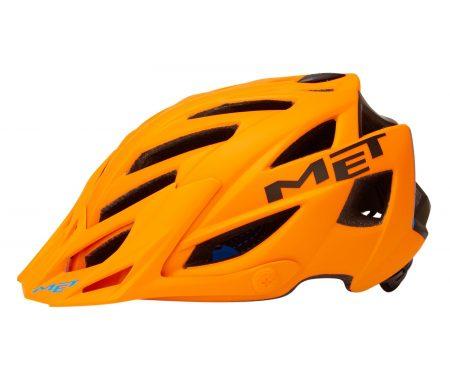 Met Terra – Cykelhjelm – Orange/Sort/Blå – Str. 54-61 cm