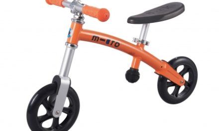 Micro G-Bike Light – Løbecykel – Aluminium – Orange