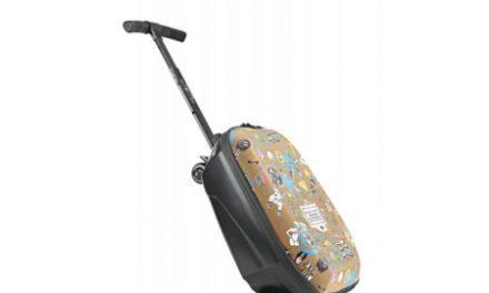 Micro Luggage – Løbehjul med højtaler og taske – Aluminium