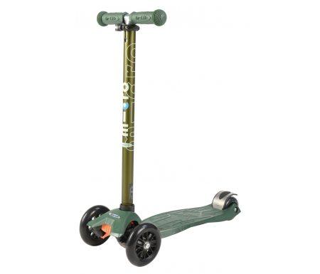Micro Maxi Classic – Løbehjul med fire hjul – Grøn metal