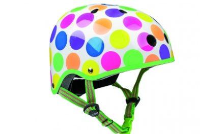 Micro Mini Cykelhjelm – Neon Dots – Skater med hård skal