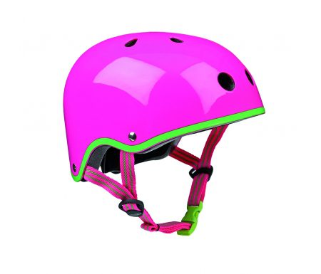 Micro Mini Cykelhjelm – Neon Pink – Skater med hård skal