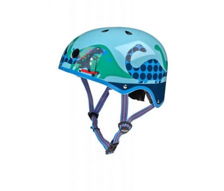 Micro Mini Cykelhjelm – Scootersaurus – Str. 48-53 cm – Skater med hård skal