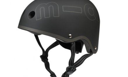 Micro Mini Cykelhjelm – Sort – Skater med hård skal