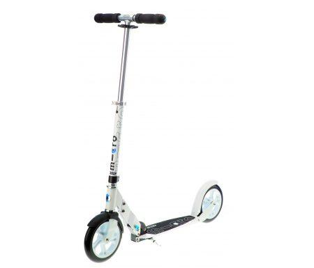 Micro White – Løbehjul til voksne – 200mm hjul – Aluminium – Hvid