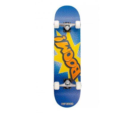 My Hood Boom – skateboard – ABEC 9 Blå/Orange