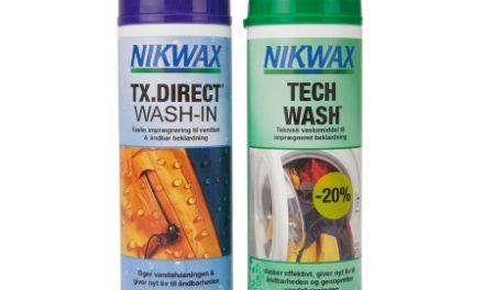 Nikwax Twinpack Tech Wash/TX-Direct – Vask og imprænering til vandtæt beklædning – 2 x 300