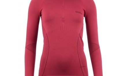 Odlo 1/2 zip Evolution warm – Langærmet bluse til dame – Bordeaux
