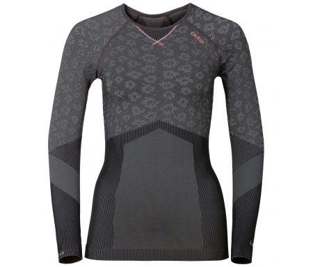 Odlo Blackcomb Evolution warm – Langærmet bluse til dame – Grå