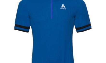 Odlo – Breeze Stand-up collar – Cykeltrøje med korte ærmer – Herre – Blå