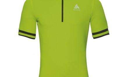 Odlo – Breeze Stand-up collar – Cykeltrøje med korte ærmer – Herre – Neon