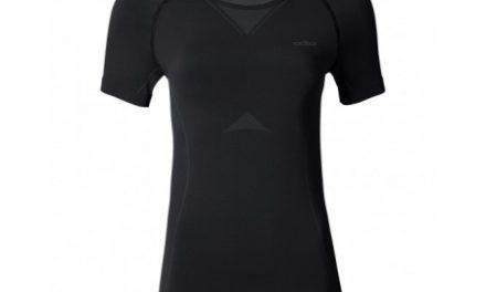 Odlo Evolution light – Basislag – T-shirt til dame – Sort/grå