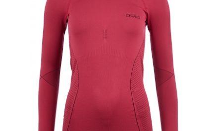 Odlo Evolution Warm – Langærmet bluse med rund hals til dame – Bordeaux