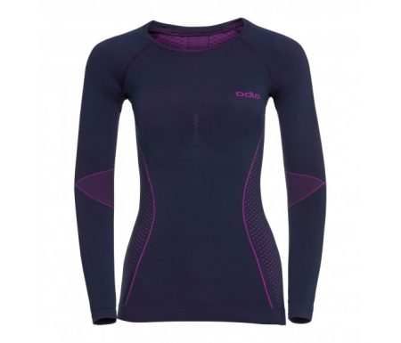 Odlo – Evolution Warm Shirt Crew Neck – Dame – Lilla/Pink