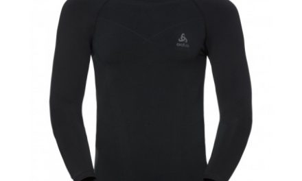 Odlo – Evolution Warm Shirt Crew Neck – Herre – Sort/Grå