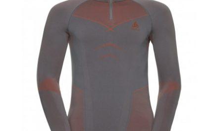 Odlo – Evolution Warm Shirt Turtle Neck – Herre – Grå/Orange
