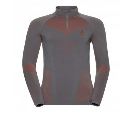 Odlo – Evolution Warm Shirt Turtle Neck – Herre – Grå/Orange
