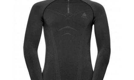 Odlo – Evolution Warm Shirt Turtle Neck – Herre – Sort/Grå